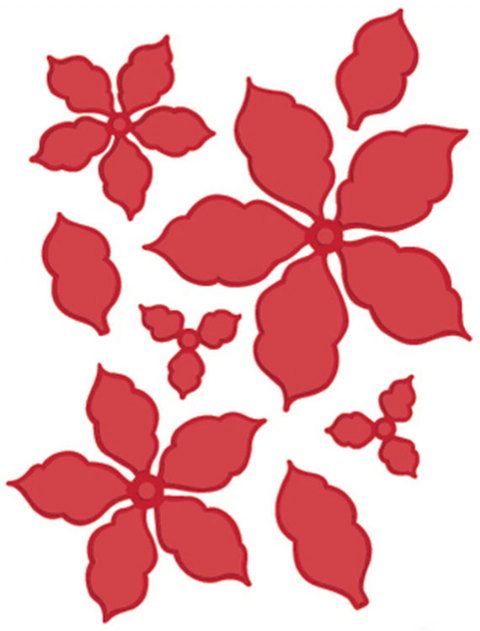 FESTIVE COLLECTION - Classic Poinsettia CED3008 by Sue Wilson
